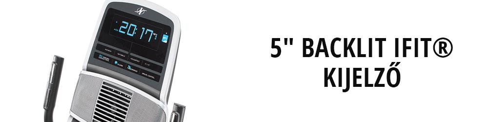 NordicTrack GX 4.7 háttámlás szobakerékpár kijelző